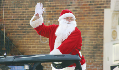 Santa Claus makes his annual appearance in Sunday's Owen County Christmas Parade.