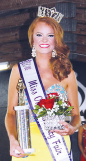 Of 19 contestants competing in Saturday's Miss Owen County Fair pageant, two were from Owen County. Veronica Chisholm was crowned Miss Owen County.