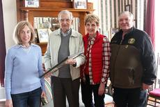 """<div class=""""source"""">Photo by Molly Haines   N-H Editor </div><div class=""""image-desc"""">Owen County Historical Society President Christina Murphy, David Houchens, Kathie Houchens and Owen County Historical Society member Larry Dale Perry</div><div class=""""buy-pic""""><a href=""""/photo_select/18696"""">Buy this photo</a></div>"""