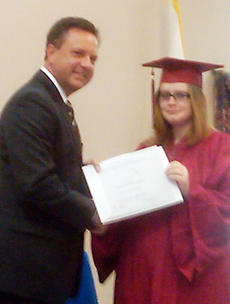 """<div class=""""source""""></div><div class=""""image-desc"""">Owen County Superintendent David Raleigh presents a certificate to Courtney Phillips.</div><div class=""""buy-pic""""><a href=""""/photo_select/5353"""">Buy this photo</a></div>"""