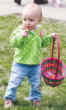 "<div class=""source"">Molly Haines</div><div class=""image-desc"">Miyah Case enjoys the Easter egg hunt during Saturday's Easter bazaar to benefit OCHS Project Graduation 2013.  </div><div class=""buy-pic""><a href=""/photo_select/9129"">Buy this photo</a></div>"