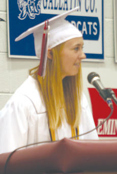 "<div class=""source""></div><div class=""image-desc"">Valedictorian Julie Spaulding talks to her classmates about some of the challenges and fun they had while growing up in the Owen County School District. </div><div class=""buy-pic""><a href=""/photo_select/9621"">Buy this photo</a></div>"