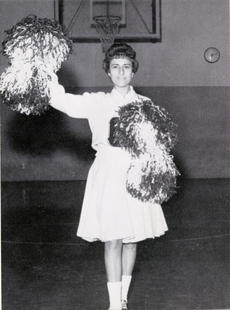 "<div class=""source"">OCHS 1962 Yearbook</div><div class=""image-desc"">Judy Parr McKenney, circa 1962, Cheerleading at Owen County High School (years after we discovered Elvis) </div><div class=""buy-pic""></div>"