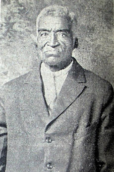 "<div class=""source"">News-Herald Archives, 1947</div><div class=""image-desc"">Cord Vinegar, pictured in his November 6, 1947, obituary in the News-Herald. He was thought to be 107. Cord was said to have been born into slavery on Mountain Island. His name is not listed in Herndon's will, but as a child perhaps he would not have been named. Certainly, he was known to have lived on the Island throughout his long life on land he inherited, either directly from Herndon, or from one of Herndon's named heirs.</div><div class=""buy-pic""></div>"