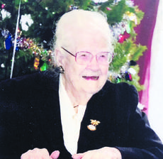 "<div class=""source"">Submitted photo</div><div class=""image-desc"">Margaret Alice Karsner Murphy, a well-known local historian and author, will celebrate her 100th birthday Dec. 29. </div><div class=""buy-pic""><a href=""/photo_select/18419"">Buy this photo</a></div>"