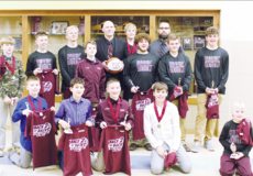 """<div class=""""source""""></div><div class=""""image-desc"""">The 2017 Maurice Bowling Middle School eighth-grade team finished their season undefeated and champions of the NCKC tournament for the second year in a row.  Front row, left to right: Kade New, Chayce Merchant, Ashton Moore, Teagan Moore, Ball Boy Broox Ward. Back row, left to right: Back row:  Cameron Fitzgerald, Hagen New, Tennyson Hensley, Lincoln Cobb, Head Coach Brock Ward, Brax Ward, Cody Cobb, Assistant Coach Tim Moore, Blake Fitzgerald, Isaac Wash</div><div class=""""buy-pic""""><a href=""""/photo_select/17511"""">Buy this photo</a></div>"""