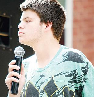Travis Pelotte was Saturday's high school talent show winner.