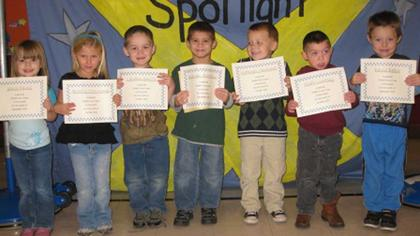 Preschool PAWS-itive Citizens of the Month for Sept. and Oct.