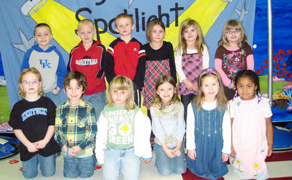 Kindergarten November and December PAWS-itive Citizens of the Month Award Winners