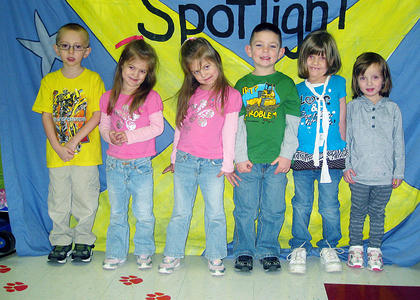 Pre-K November and December Pre-K PAWS-itive Citizens of the Month Award Winners