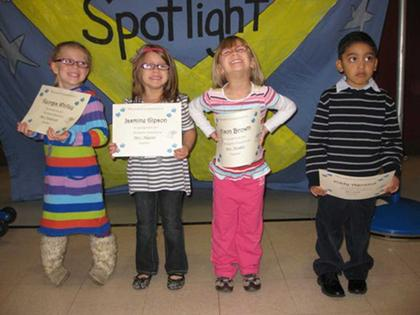 Preschool Academic Excellence Award winners