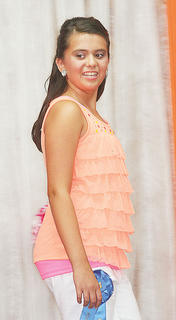 Addison Montague participated in the Miss Preteen pageant.