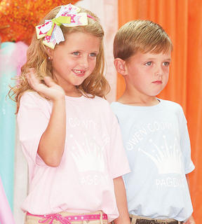 Adi and Aiden Bowling participated in the Little Miss and Mister pageant.