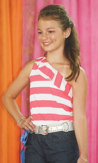 Alli Gill participated in the Miss Preteen pageant.