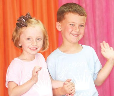 Audrey Roberts and Carson Carter participated in the Little Miss and Mister pageant.