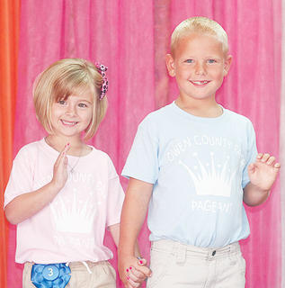 Audrey Wright and Corey Elliott participated in the Little Miss and Mister pageant.