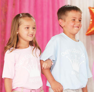Gabrielle Perry and Christian Dempsey participated in the Little Miss and Mister pageant.