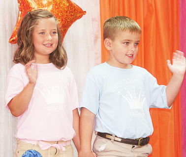 Hannah Howard and Davis Smith participated in the Little Miss and Mister pageant.