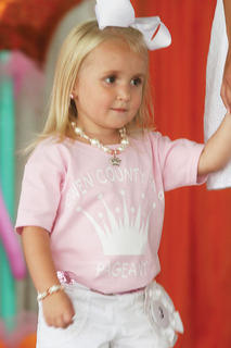 Kaylee Mae Glass participated in the Little Princess pageant.