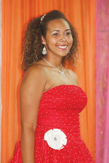Kendrah Ashby participated in the Miss Teen pageant.