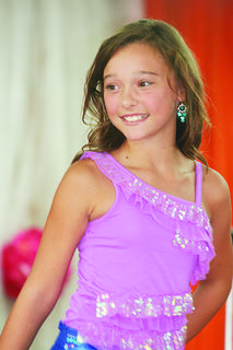 Kylee Robinson participated in the Miss Preteen pageant.