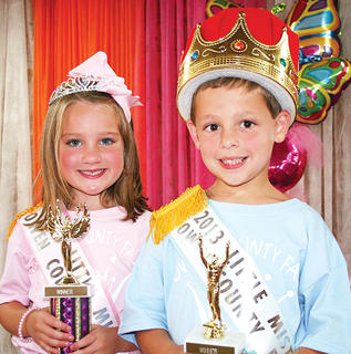 Mason Hedger and Blake Gaines were crowned 2013 Little Miss and Mister Owen County Fair.