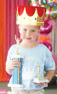 Conner Dezarn was crowned 2013 Owen County Fair Little Prince.