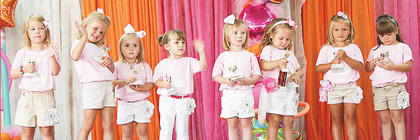 Pictured are all of this year's Little Princess contestants (from left to right): Liddie June Smith, Khloe Sue Dempsey, Kaylee Mae Glass, Emileigh Grace Stivers, Gretchen Powers, Ryli Lenear, Hannah Lee Mason and Madelyn Kate Justis.