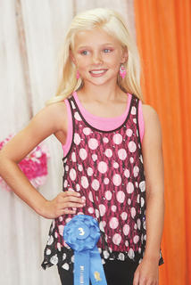 Macie Chappell participated in the Miss Preteen pageant.
