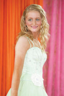 Madelin Shelton participated in the Miss Teen pageant.