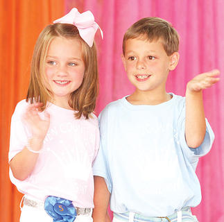 Mason Hedger and Blake Gaines participated in the Little Miss and Mister pageant.