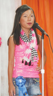 Meg Gamm participated in the Miss Preteen pageant.