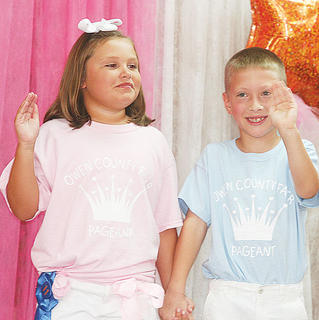 Millie Cooke and Ashton Moore participated in the Little Miss and Mister pageant.