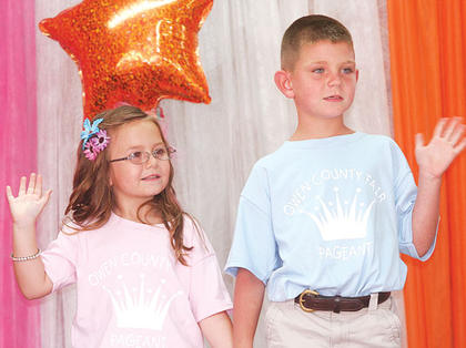 Neveah Hammond and Ethan Young participated in the Little Miss and Mister pageant.