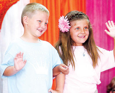Tanner Ponder and Allison Arnce participated in the Little Miss and Mister pageant and were awarded People's Choice.