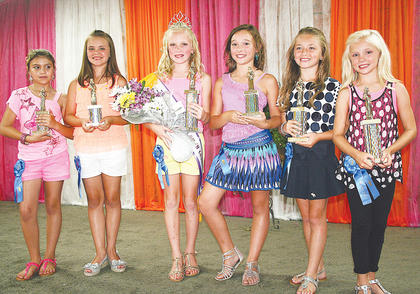 Pictured are all of this year's Miss Preteen winners (from left to right): People's Choice Hayley Patrick; fourth runner-up Alexandria Perry; 2013 Owen County 4-H Fair and Horse Show Miss Pre-Teen Maddie Walker; third runner-up Kylee Robinson; second runner-up Hayley Neeley and first runner-up Macie Chappell.