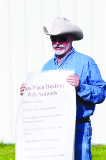 Eden Shale Farm Manager Greg Cole lays out rules for dealing with animals.
