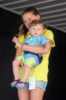 Case Perkins, son of Chad and Dani Perkins of Owenton, in the 0-11-month-old baby pageant.