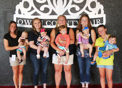 The 2018 Owen County 4-H Fair and Horse Show kicked off July 14 with the 0-11 month old baby pageant. The winners, from left to right: Liam Ballinger, son of Derick and Amber Ballinger of Monterey, Biggest Smile; Sadie Epperson, daughter of Deriek and Tiffany Epperson of Lusbys Mill, Prettiest Eyes; Raylan Keith, son of James and Mariah Keith of Owenton, Friendliest; Shelby Young, daughter of Ryan and Stacey Young of Owenton, Overall Girl and Case Perkins, son of Chad and Dani Perkins of Owenton, Overall Boy.