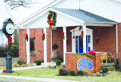 Owenton City Hall decked out for Christmas.