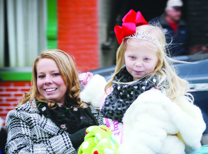 Kathryn and Mallorie Tate, 2016 Little Princess Owen County Fair, ride in the parade.
