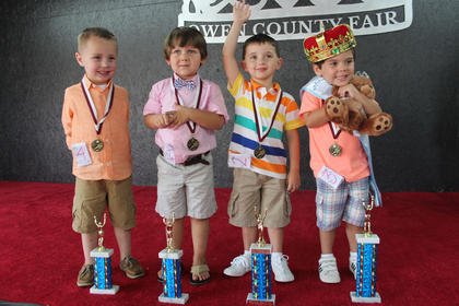 Winners of the 2016 Little Prince Owen County Fair, left to right: third runner-up Landon Scott; second runner-up Kayden Lusby; first runner-up Toby Fitzgerald and Little Prince Brennan James Cook.