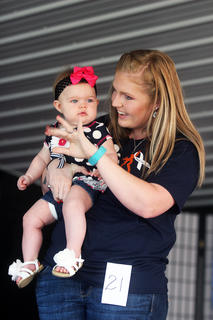 Sadie Epperson, daughter of Deriek and Tiffany Epperson of Lusbys Mill, in the 0-11-month-old baby pageant.