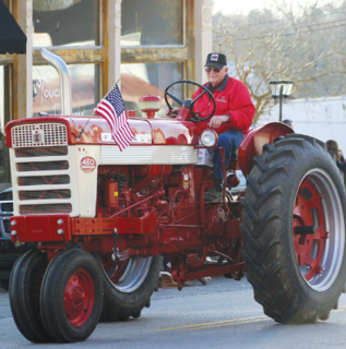 Tractors are seen in the Owen County Christmas Parade each year.