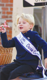 2017 Owen County 4-H Fair and Horse Show Little Prince Austin Bourne rides in the parade.