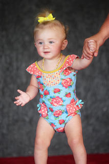 Sydney O'Banion in the 12-23-month-old baby pageant.