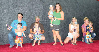The winners of the 2014 Owen County Fair Baby Pageant for ages 12-23 months were Molly Hopperton (best girl); Caden Lusby (best boy); Toby Fitzgerald (friendliest); Cody Riddle (prettiest eyes); and Kinlee Dunn (biggest smile).